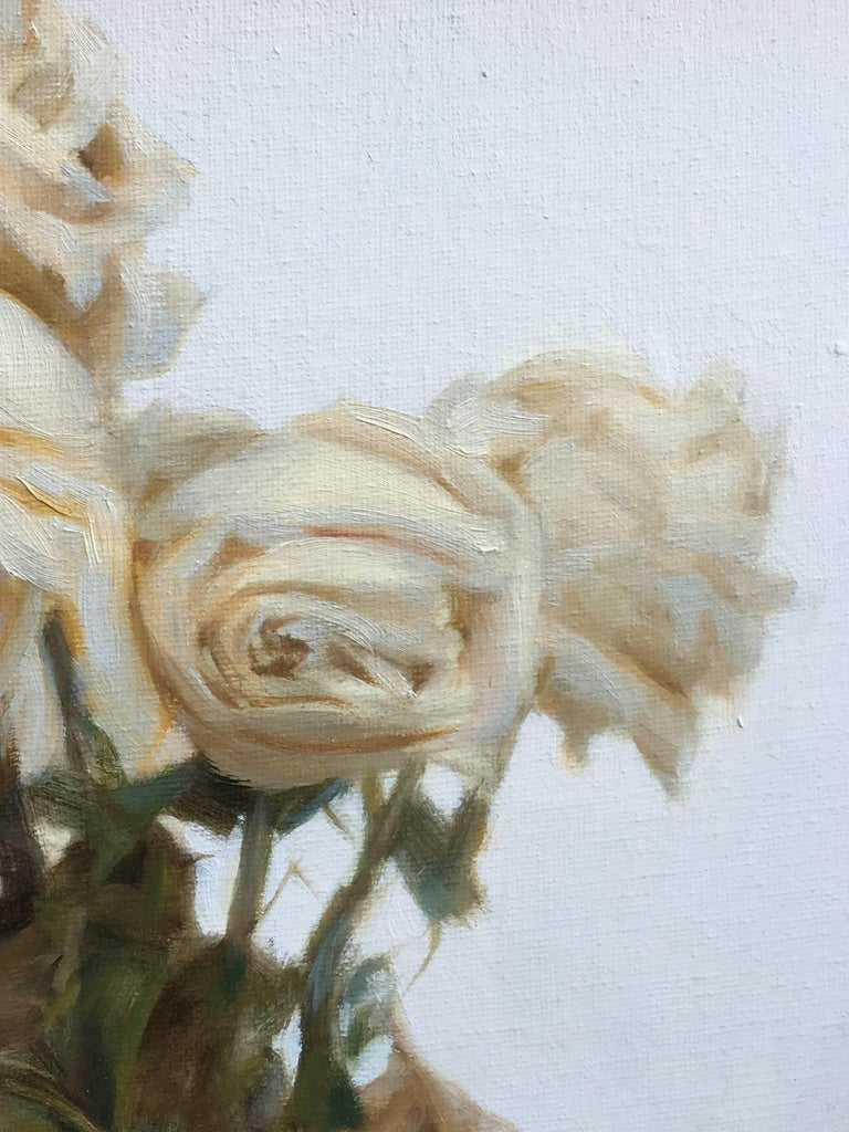 Provenance Acquired by the gallery directly from the artist  Description: The artist was inspired by the grace and dignity in which these roses passed from the living world. With careful observation she was moved by the way in which their heads