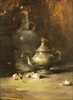 Still Life Arrangement with Pewter