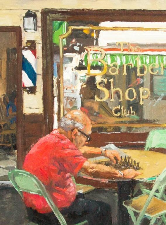 Scott W Prior - The Barber Shop Club, Farmers Marketla, Painting For Sale At 1Stdibs-1744
