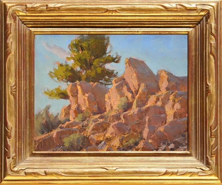 Jean LeGassick Landscape Painting - Rocks Catching Rays