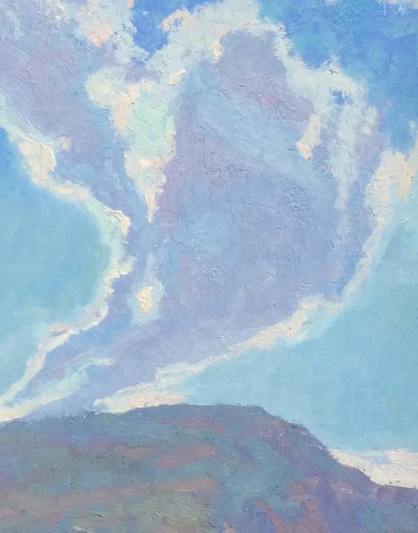 Provenance On consignment at the gallery from a private collector. Painted, circa 2004, in the Mount Carmel area of Utah during the annual Maynard Dixon Country Plein Air Event.  Description The immediate subject of Prayers Rising portrays the open
