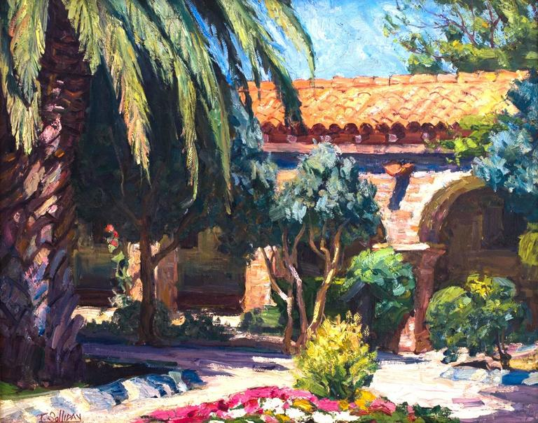 Mission San Juan Capistrano - Painting by Tim Solliday