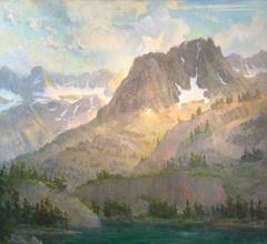 Sierra Grandeur; 5th Lake View of Mt. Robinson and Palisade Glacier