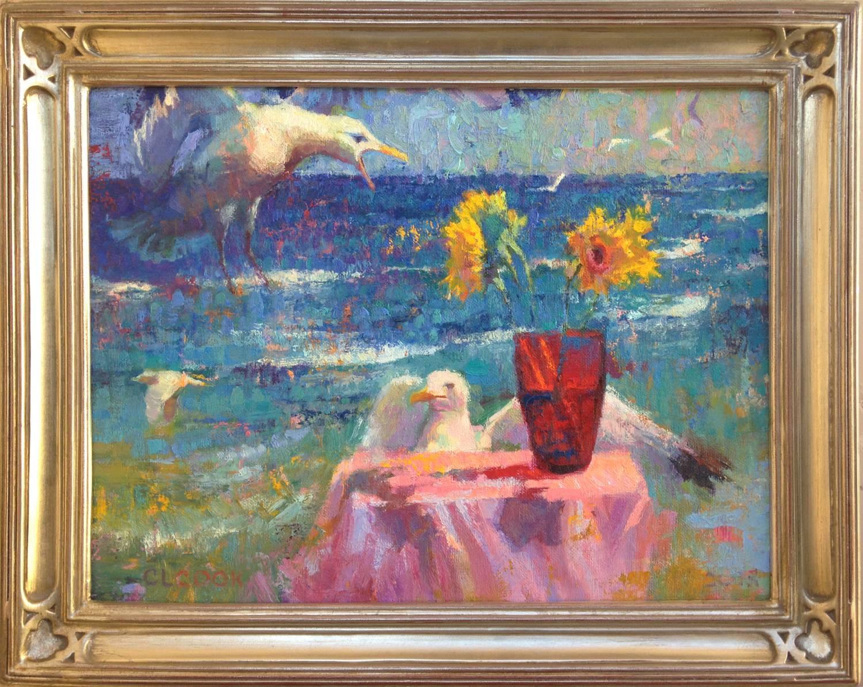 Seagulls and Shattered Sun; Malibu