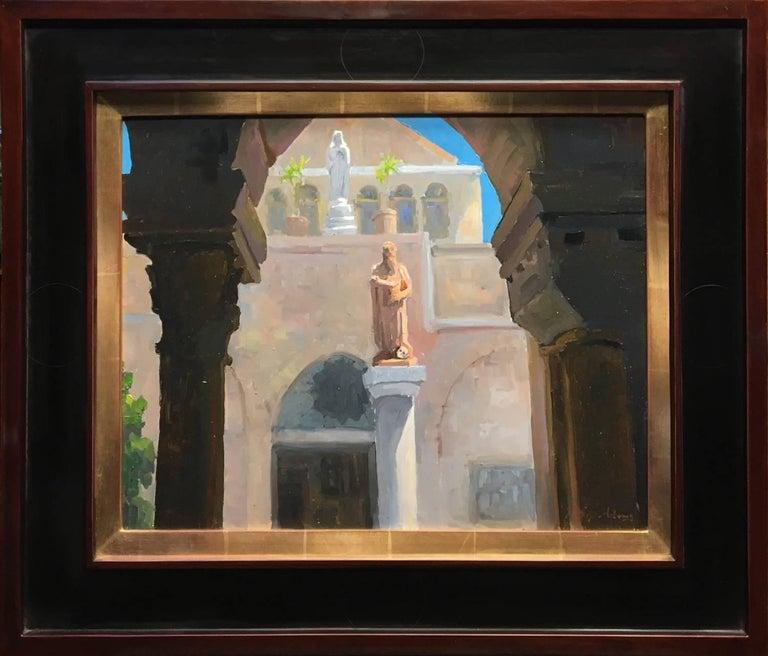 Peter Adams Figurative Painting - St. Jerome & St. Catherine of Alexandria, Church of St. Catherine, Bethlehem