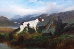 Colin Graeme Roe - An English Pointer in a Mountainous Landscape by Colin Graeme Roe.
