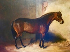 A Bay Pony in a Stable Attributed to Edward Robert Smythe.
