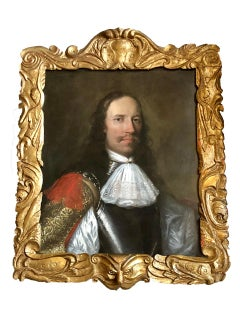 Portrait of an Officer in Armour - Circle of William Dobson. 1650
