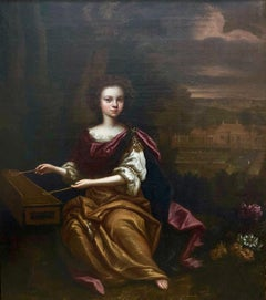 Portrait of a Young Lady Playing the Dulcimer.