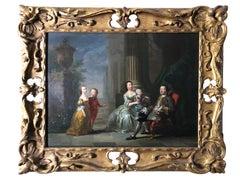 18th Century British Conversation Piece - Circle of Joseph Highmore.