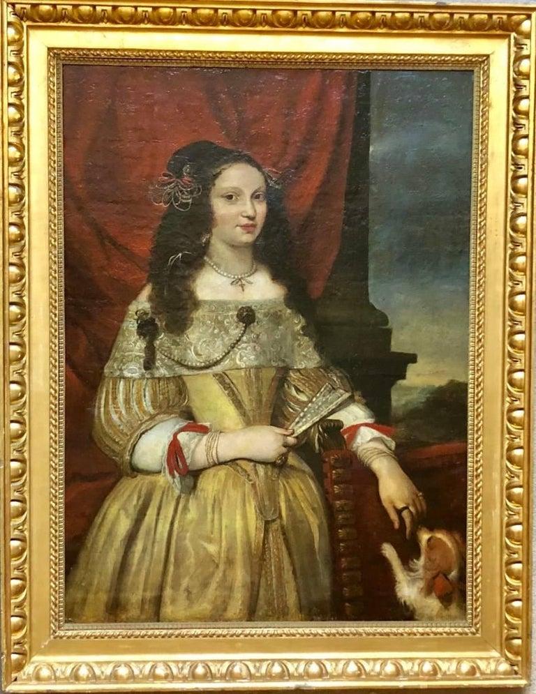 Portrait of a Noblewoman - Circle of Pier Francesco Cittadini. - Brown Portrait Painting by Pier Francesco Cittadini