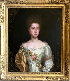 Portrait of a Lady with Pearl and Flower Garland, Attributed to Thomas Bardwell