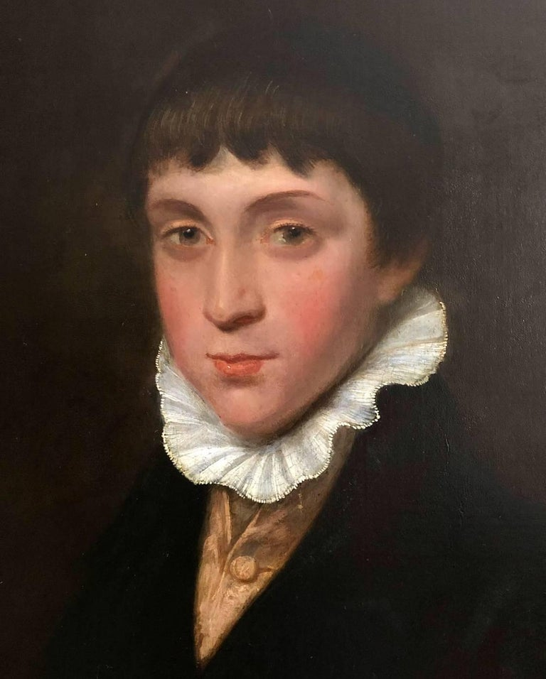 19th Century Portrait of a Regency Boy. - Painting by George Watson P.R.S.A