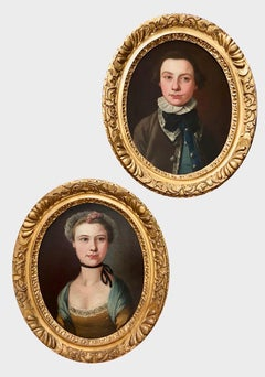 A Pair of 18th Century Portraits of Children