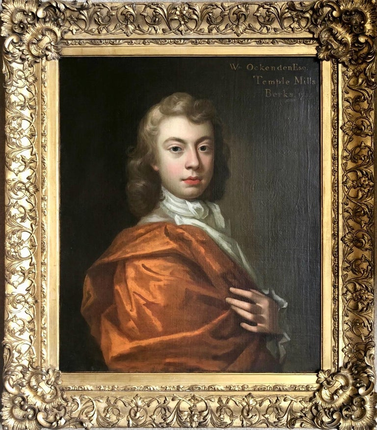 18th Century British Oil Portrait Painting of a Nobleman For Sale 1