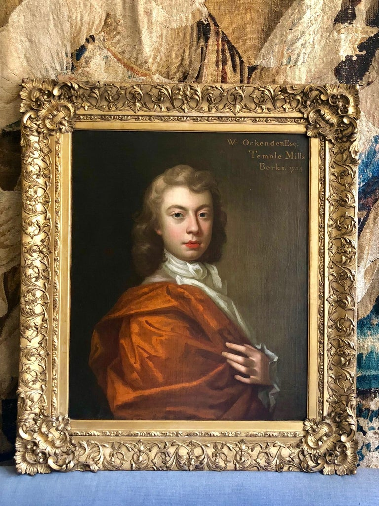 18th Century British Oil Portrait Painting of a Nobleman For Sale 5