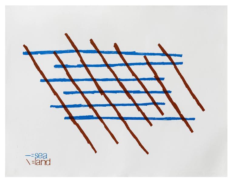 Ian Hamilton Finlay Abstract Print - Sea/Land