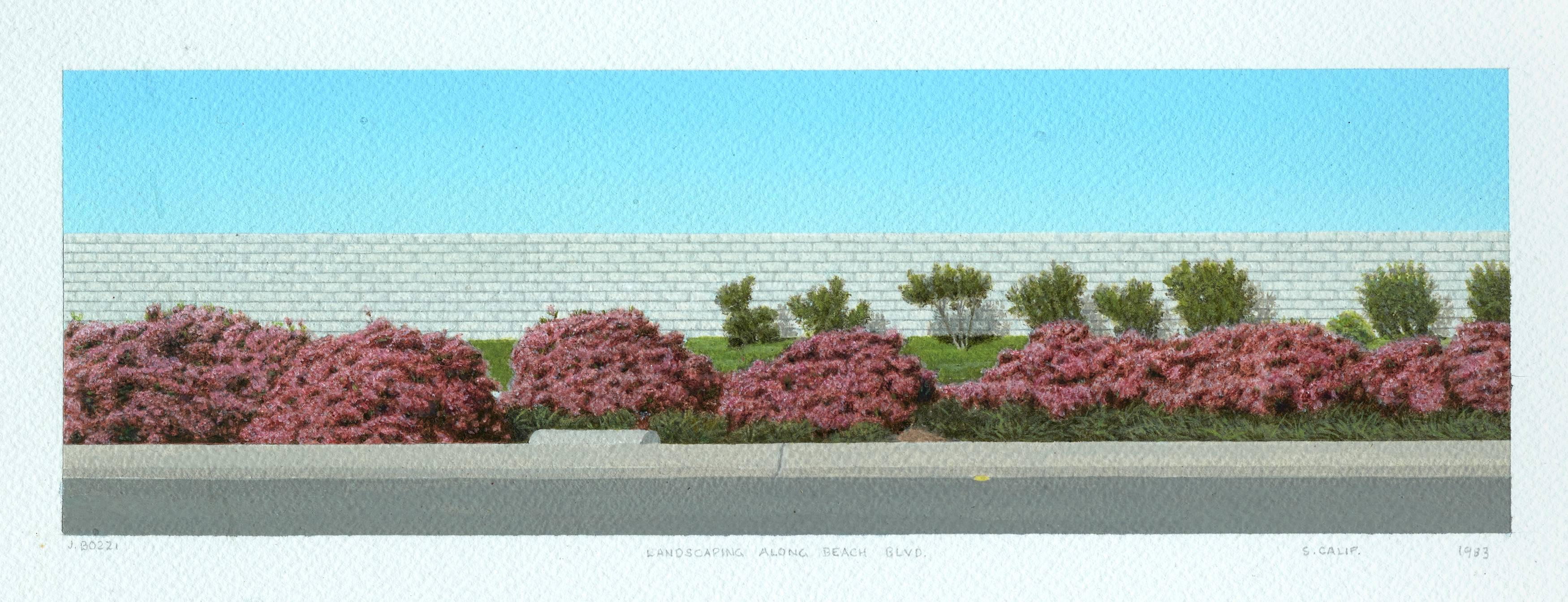 Landscape Along Beach Blvd.