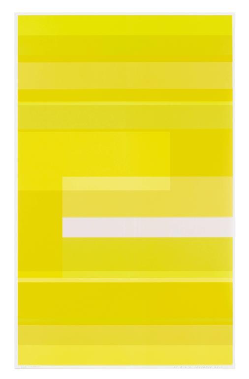 Circling Around Yellow, Bigmouth - Print by Kate Shepherd
