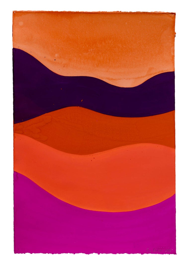 Jack Davidson Abstract Drawing - Untitled (red, purple, horizon)