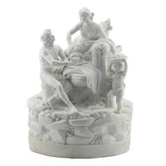 Niderviller White Bisque Porcelain Figure Group