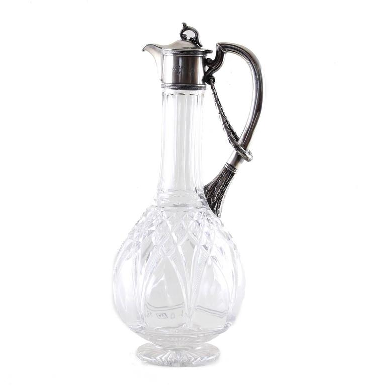Russian silver mounted claret jug - Art by Unknown