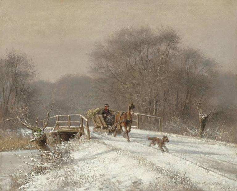 Frederik Rohde Landscape Painting - A Sleigh Ride