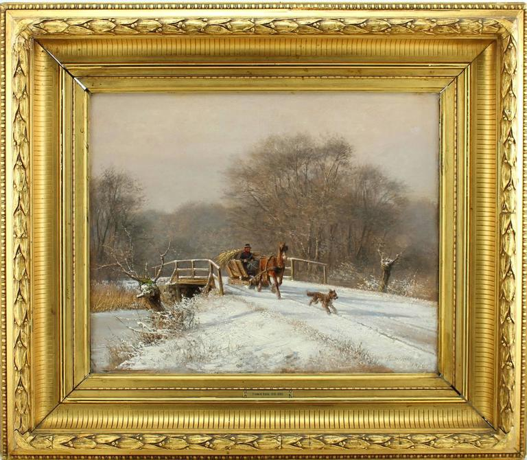 A Sleigh Ride - Painting by Frederik Rohde