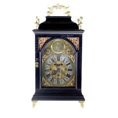 Ebonized Bracket Clock German late 18th Century