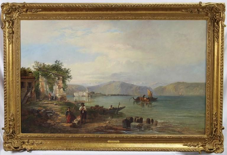 James Vivien De Fleury Lake Maggiore Painting For Sale