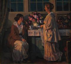 Two Ladies Drinking Tea