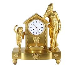Gilt Bronze Figural Mantel Clock by Japy Frères