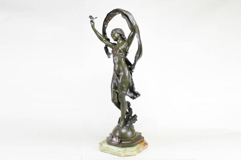 La Rosee - Art Nouveau Sculpture by Mathurin Moreau