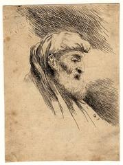 Untitled - An oriental figure with a beard and turban.