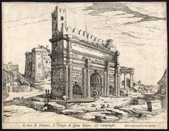 L'Arco di Settimio, il tempio di Giove Statore & Campidoglio.
