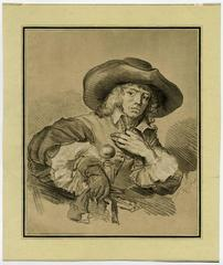 Untitled - Portrait of a young man with a broad brimmed hat.