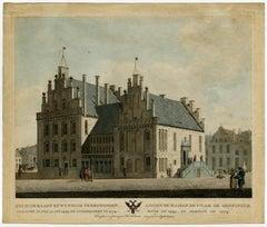 Het oude Raadt en wynhuis te Groningen … Ancienne Maison de Ville de Groningue