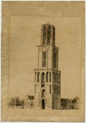 Original drawing of the Domtoren (Dom tower), Utrecht