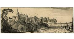 Untitled - Landscape with a monastery or large country manor.