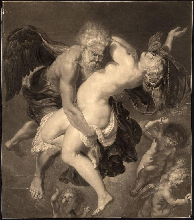 Peter Paul Rubens Figurative Print - Boreas abducting Oreithyia