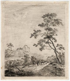 Untitled - Landscape with a shepherd leading a cowherd.