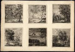 Untitled - Set of six small landscapes