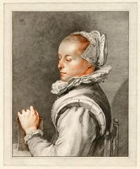 Untitled - Portrait of Maria Tesselschade Roemers Visscher.