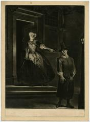 """Untitled - Scene from the play """"Jan Claasz of de gewaande dienstmaagd"""""""