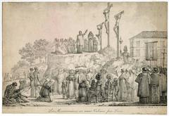 Les missionaires au Mont Valerien pres Paris.