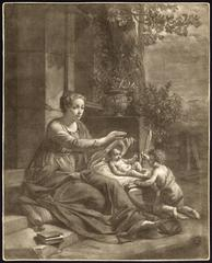 Untitled - The visitation of John the Baptist with the infant Christ and Mary.