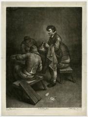 Untitled - Innkeeper with three seated figures.