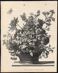 Untitled - A basket with flowers.