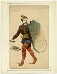 Untitled - Set of 9 full length depictions of historical costumes.