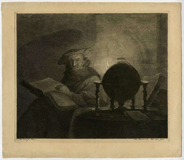 A scholar / astronomer in his study.